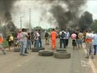 Manifestantes interditam trecho da BR-135 em São Luís, MA