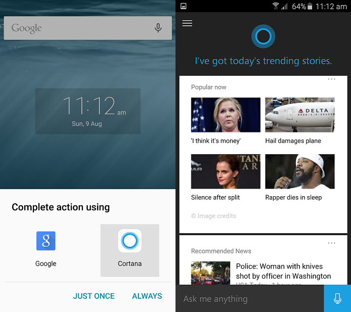Cortana poderá ser definida como assistente pessoal padrão no Android (Foto:Reprodução/Microsoft News)
