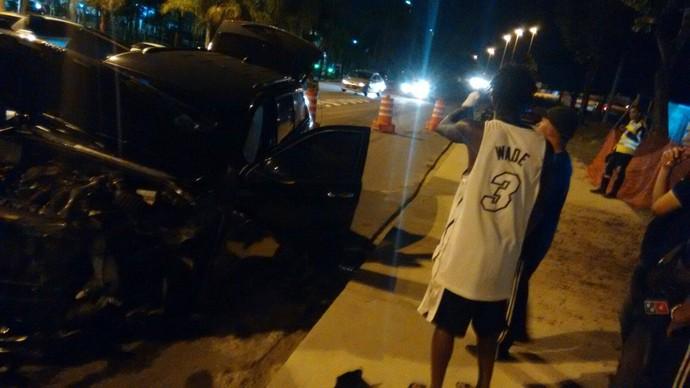 Carro de Andrezinho, Vasco, acidente, Barra da Tijuca (Foto: Reprodução/Facebook)