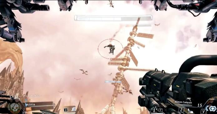 Titanfall: Bug faz Titan voar pelos ares (Foto: Reprodução) (Foto: Titanfall: Bug faz Titan voar pelos ares (Foto: Reprodução))