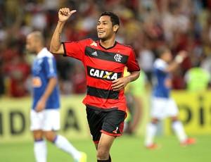 Hernane gol jogo Flamengo e Cruzeiro (Foto: Márcio Mercante  / Agência Estado)