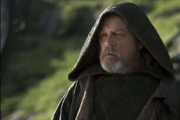 O ator Mark Hamill como Luke Skywalker em cena do aguardado Star Wars: Os Últimos Jedi (Foto: Reprodução)
