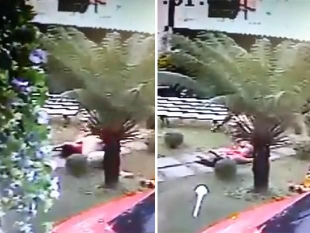 Imagens fortes mostram agressão que levou a morte de dançarina no RJ (Foto: Reprodução?Facebook Radar Costa Verde)