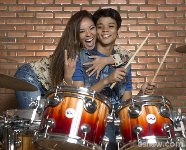 Nakamura não é uma mãe 'linha dura', mas sempre cuida do filho (Foto: Felipe Monteiro / TV Globo)