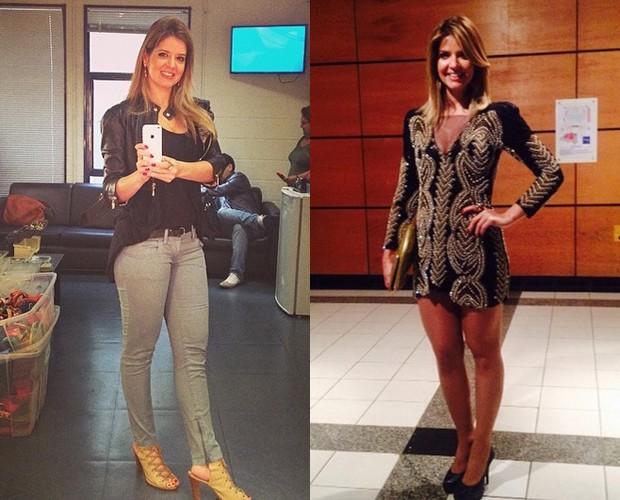 Mari Santos em junho de 2014 e janeiro de 2015 (Foto: Arquivo Pessoal)
