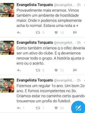 Evangelista Torquato, Fortaleza (Foto: Reprodução Twitter/Evangelista Torquato)