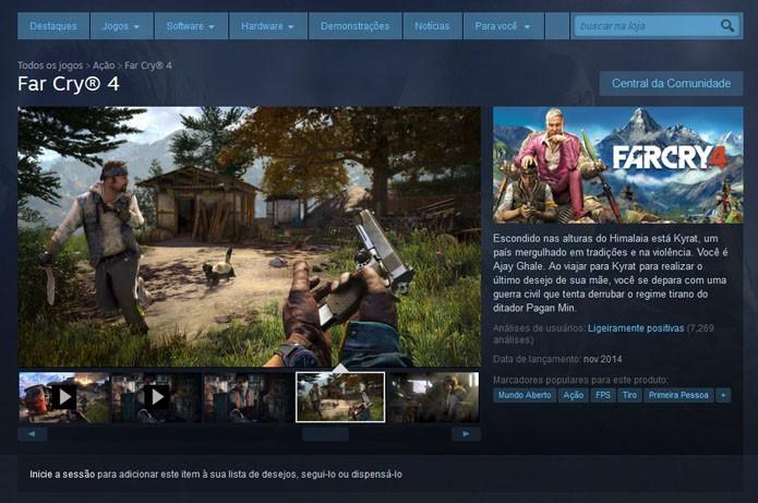 Far Cry 4 no Steam (Foto: Reprodução/Steam)