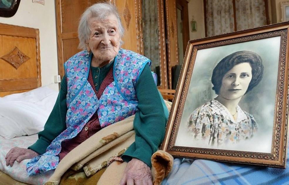 Mais velha do mundo, italiana Emma Morano completa 117 anos  (Foto: Antonino Di Marco/ANSA/AP)