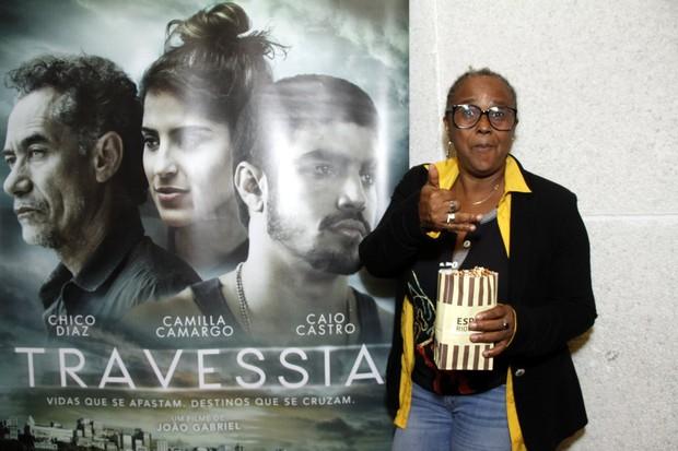 Sandra de Sá - Pré estreia do filme Travessia (Foto: Marcos Ferreira / Brazil News / Divulgação )