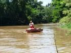 Rio Capivari baixa 2m e bombeiros refazem trajeto em busca de grávida