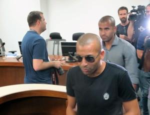 Emerson Sheik e Julio César Botafogo julgamento STJD (Foto: Gustavo Rotstein)
