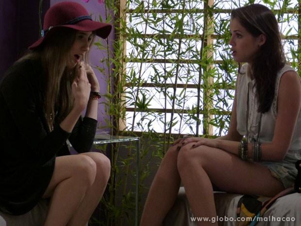 Tábata fala pra Ju induzir vômito e a garota fica chocada (Foto: Malhação / Tv Globo)