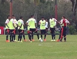 Luxemburgo Flamengo treino Ninho do Urubu (Foto: Thales Soares)