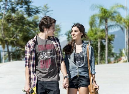 Luciana e Rodrigo têm encontro fofo no parque