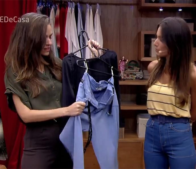 Flávia Piña combina body com calça pijama no É de Casa (Foto: É de Casa / Gshow)