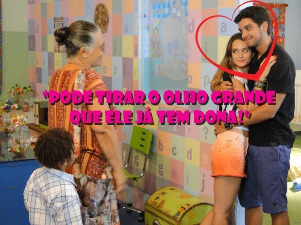 É bom Fat ficar de olho aberto pq um monte de gnt pira no Bruninho, né? (Foto: Malhação / Tv Globo)