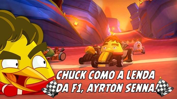 Angry Birds Go ganha pássaro inspirado em Ayrton Senna (Foto: Divulgação)