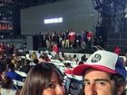 Marcos Mion vai com a mulher a show de Beyoncé e Jay-Z nos EUA
