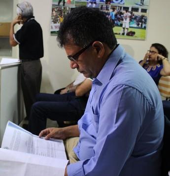 Batista Filho, presidente do Parnahyba  (Foto: Josiel  Martins)