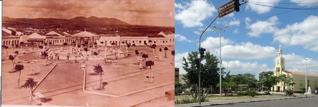 Praça do Rosário (Foto: Acervo/Fafica/Lafaete Vaz/G1)