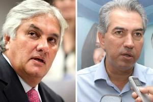 O senador Delcídio Amaral (PT) e o deputado Reinaldo Azambuja (PSDB) (Foto: Jessica Barbosa/Divulgação e Divulgação/Facebook)