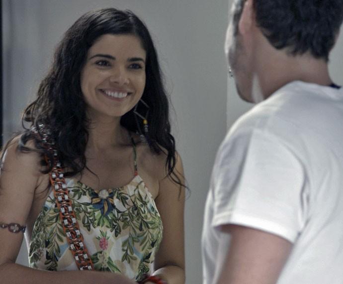 E ficam cada vez mais próximos! (Foto: TV Globo)