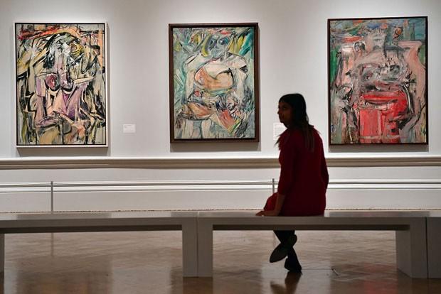 Obras primordiais do expressionismo abstrato são expostas em Londres (Foto: Getty Images)