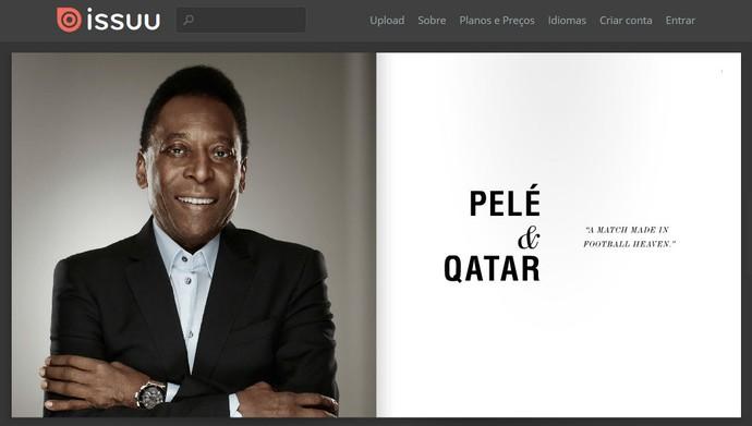 Livreto com plano de parceria entre Pelé e Catar (Foto: Reprodução/ISSUU)