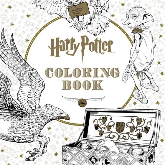 Livro de colorir do Harry Potter  (Foto: Reprodução Scholastic)