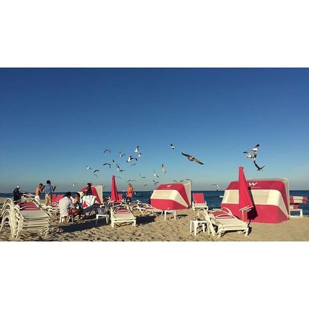 Foto postada por Maluma na praia (Foto: Reprodução/Instagram)