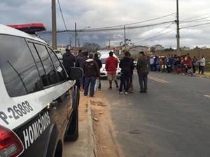 Entregador de gás é morto a tiros no bairro Dom Bosco em São José (Foto: Divulgação/DIG)