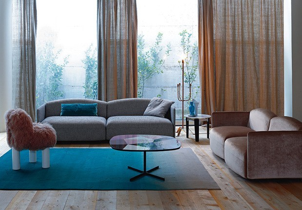 Sala De Estar Azul Com Marrom ~ Sala azul 16 ideias para apostar na cor  Casa Vogue  Ambientes