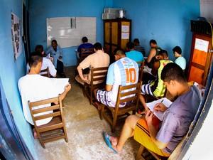 No PA, primeiro dia do Enem prisional tem baixo índice de faltosos (Foto: Thiago Gomes / Ascom Susipe)