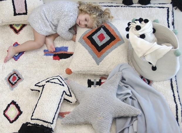 Laváveis em casa, os tapetes são pensados para caberem na máquina de lavar (Foto: Divulgação)