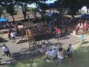 Integração no Bairro Ituiutaba 2015 (Foto: Reprodução/ TV Integração)