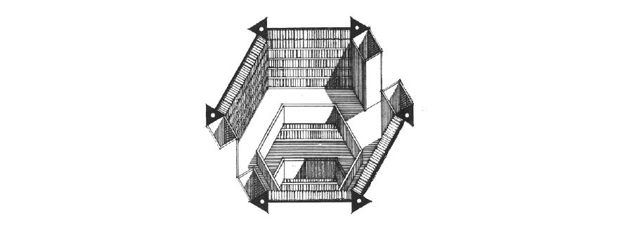 um dos níveis da biblioteca (Foto: reprodução)