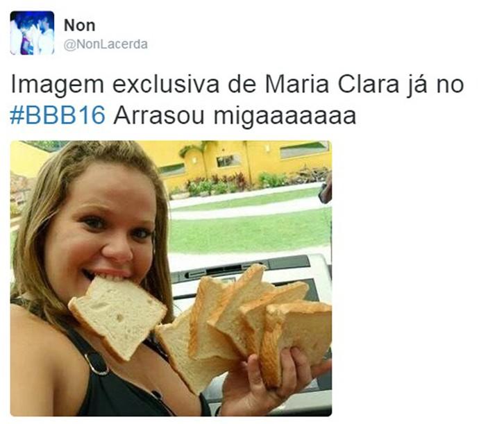 Usuário brinca com a semelhança entre Maria Clara e a ex-sister Paulinha (Foto: Reprodução )