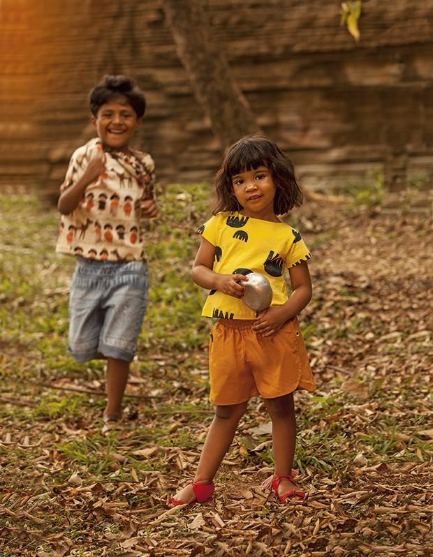 Pequenos selvagens - Moda Folk (Foto: Pablo Saborido / Editora Globo)
