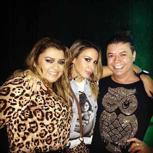 Preta Gil, Alinne Rosa e David Brazil em casa de shows no Rio (Foto: Instagram/ Reprodução)