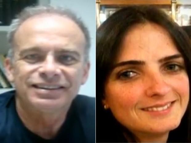Desembargador Ricardo Areosa e a mulher, Cristiane, mortos após incêndio (Foto: Reprodução / TV Globo)