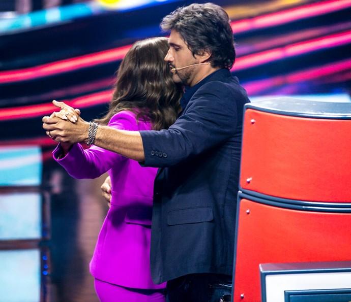 Ivete e Leo dançam no palco do The Voice Kids (Foto: Isabella Pinheiro / Gshow)