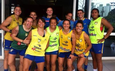 Seleção brasileira de rúgbi sevens (Foto: Divulgação/CBRu)