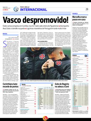 Vasco imprensa portuguesa