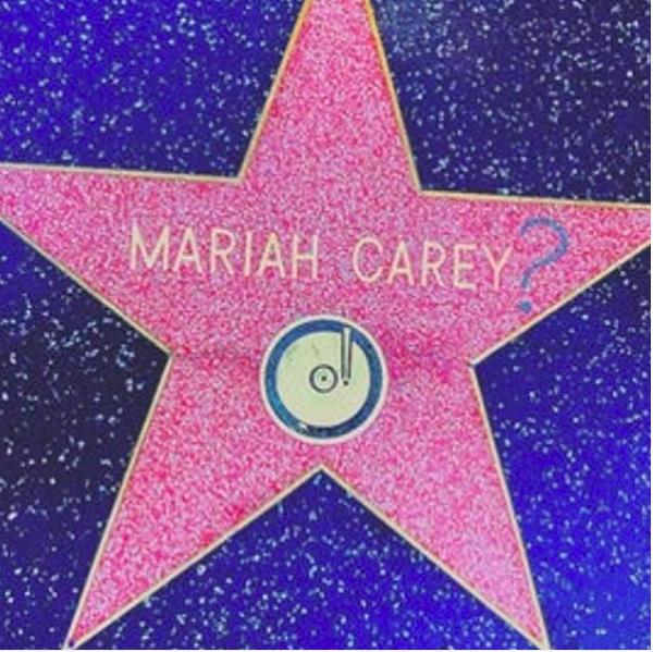 A estrela de Mariah Carey foi alvo de vandalismo (Foto: Instagram)