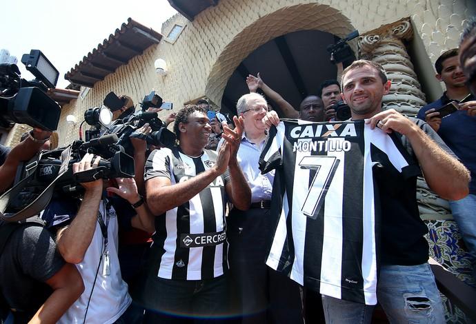 f6875c5053332 Pintou o 7! Montillo é apresentado no Botafogo com pompas para a torcida