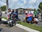 Homem e criança ficam feridos em acidente com motocicleta na Paraíba