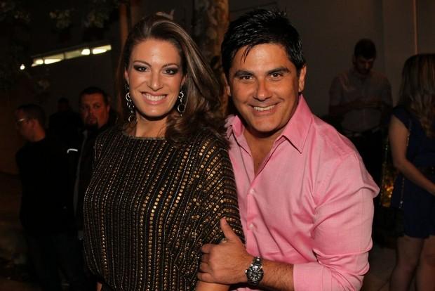 Elaine Mickely e César Filho na festa de Danilo Faro (Foto: Caio Duran e Thiago Duran / AgNews)