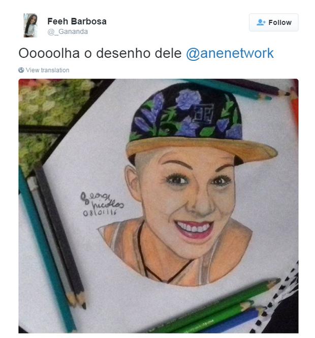 Desenho da mãe de Mc Biel  (Foto: Instagram / Reprodução)
