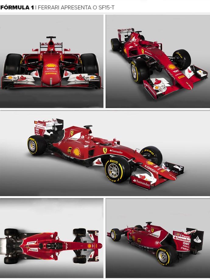 Mosaico - Ferrari apresenta o SF15-T (Foto: Divulgação)