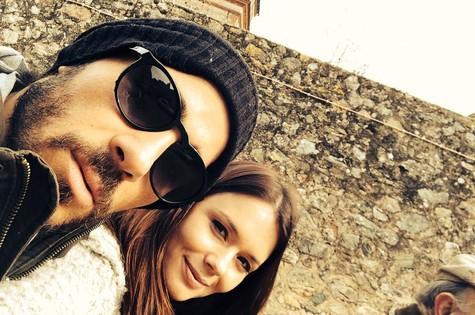 Graziela Schmitt e o namorado, Paulo Leal, em Estremoz, Alentejo (Foto: Arquivo pessoal)